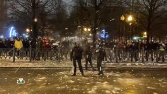 Провокации идраки сполицией: как протестовали сторонники Навального