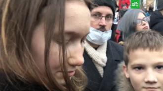 На незаконной акции вМоскве задержали 15детей