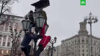 На митинге вМоскве избили противника Навального