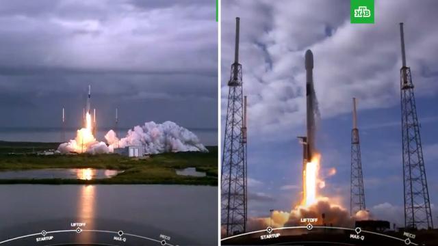SpaceX установила рекорд по единовременному выводу спутников на орбиту.запуски ракет, Илон Маск, космос, спутники, США.НТВ.Ru: новости, видео, программы телеканала НТВ