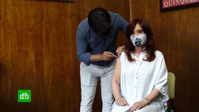Вице-президент Аргентины Кристина Фернандес де Киршнер привилась вакциной «СпутникV».Аргентина, Египет, болезни, здоровье, коронавирус, прививки, эпидемия.НТВ.Ru: новости, видео, программы телеканала НТВ