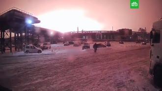 Над заводом в Уфе поднялся огненный шар