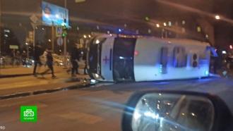 В Петербурге машина скорой с пациентом попала в ДТП