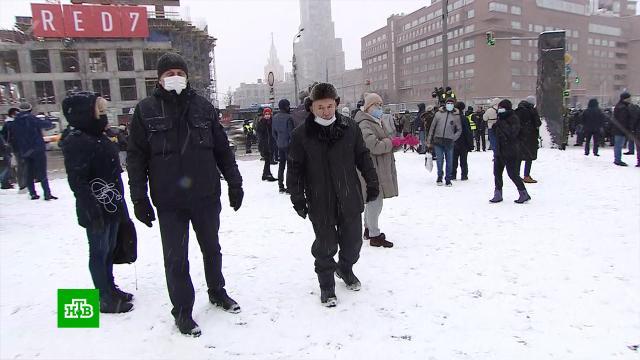 Участники незаконной акции не смогли собраться в центре Москвы.Москва, митинги и протесты, оппозиция.НТВ.Ru: новости, видео, программы телеканала НТВ