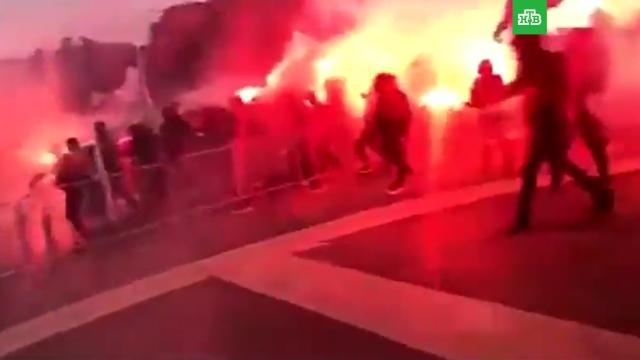 Фанаты атаковали базу ФК «Марсель».Франция, беспорядки, фанаты, футбол.НТВ.Ru: новости, видео, программы телеканала НТВ