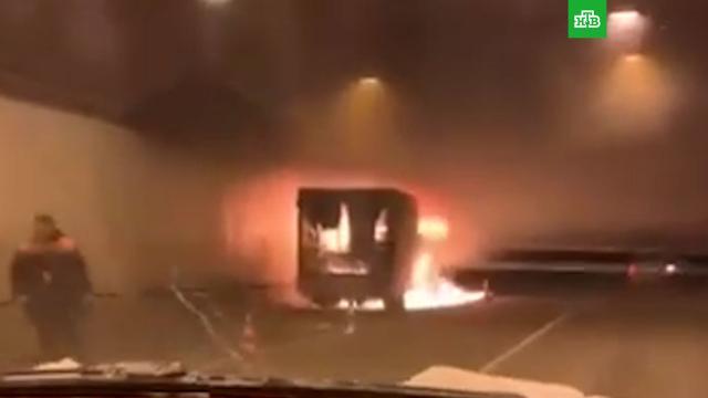 «Газель» сгорела втоннеле вМоскве.ДТП, Москва, автомобили, пожары.НТВ.Ru: новости, видео, программы телеканала НТВ