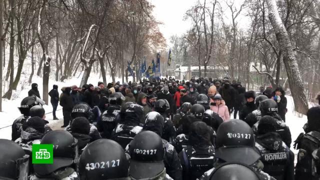Журналисты закрытых украинских телеканалов вышли на пикет вКиеве.Зеленский, Киев, СМИ, Украина, митинги и протесты, оппозиция, телевидение.НТВ.Ru: новости, видео, программы телеканала НТВ