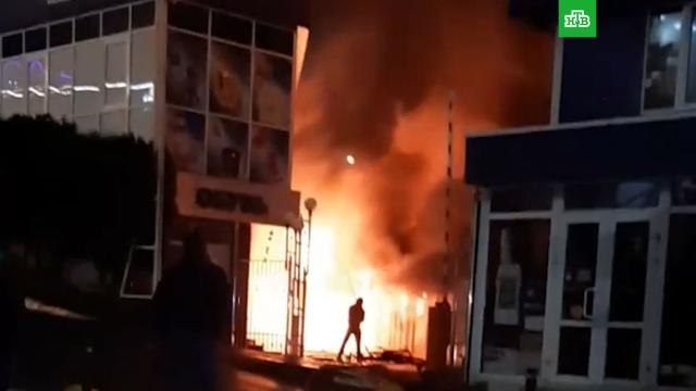 В Сочи сгорел двухэтажный торговый центр.Сочи, пожары.НТВ.Ru: новости, видео, программы телеканала НТВ