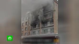 ВПетербурге тушили пожар вбывшей гостинице «Выборгская»