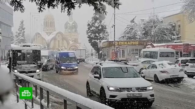 Южная зима: как аномальные снегопады повлияли на жизнь вКрыму иСочи.Краснодарский край, Крым, Сочи, зима, погодные аномалии.НТВ.Ru: новости, видео, программы телеканала НТВ