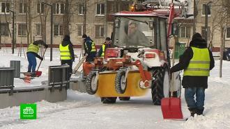 Дворы Петербурга зачищают от сугробов ильда впреддверии мощных снегопадов