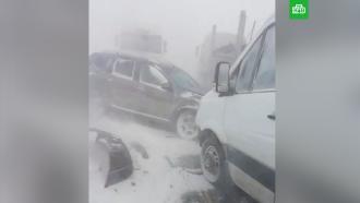 Массовая авария <nobr>из-за</nobr> сильной метели произошла под Оренбургом