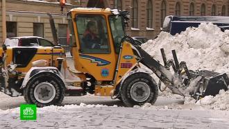 Коммунальные службы откапывают Петербург из сугробов