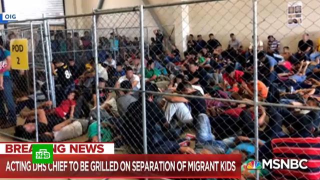 «Дети вклетках»: вСША вновь открыли скандальный лагерь для юных нелегалов.Байден, США, дети и подростки, мигранты, скандалы.НТВ.Ru: новости, видео, программы телеканала НТВ