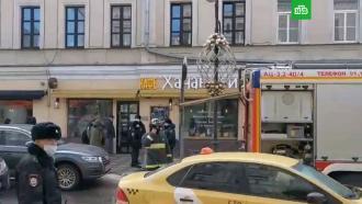 Вцентре Москвы загорелось двухэтажное здание
