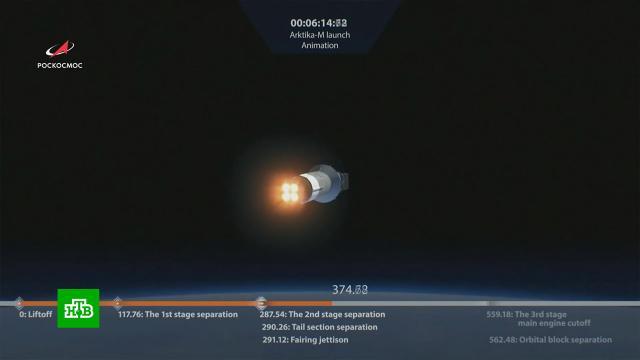 Первый спутник «Арктика-М» выведен на орбиту.Роскосмос, космос.НТВ.Ru: новости, видео, программы телеканала НТВ
