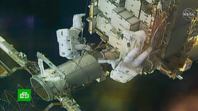 Астронавты NASA завершили семичасовой выход воткрытый космос на МКС.МКС, космонавтика, космос, наука и открытия.НТВ.Ru: новости, видео, программы телеканала НТВ
