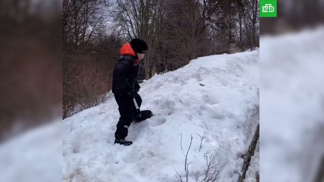 Сын Галкина иПугачевой остался один убирать снег на морозе.НТВ.Ru: новости, видео, программы телеканала НТВ
