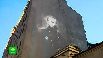 ВПетербурге появился световой портрет изобретателя электрического трамвая