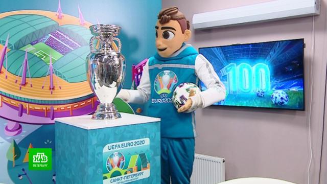 За 100дней до Евро вПетербург привезли главный трофей европейского первенства.Европа, Санкт-Петербург, спорт, футбол.НТВ.Ru: новости, видео, программы телеканала НТВ