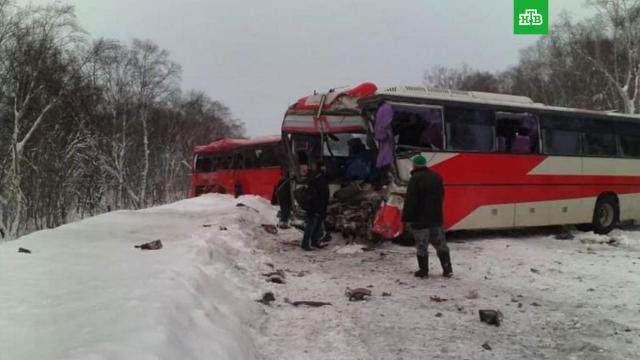 Автобусы столкнулись при снегопаде на Камчатке: 2 погибших.На Камчатке днем произошло столкновение двух рейсовых автобусов.Есть жертвы и пострадавшие.ДТП, Камчатка, автобусы, смерть.НТВ.Ru: новости, видео, программы телеканала НТВ
