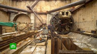 Собянин проинспектировал ход строительства станции метро «Пыхтино»