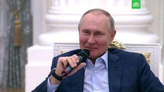 «Только мне не приписывайте»: Путин пошутил про «дворец» вЛенобласти