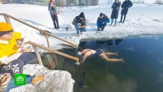 Петербурженка установила рекорд Гиннесса вледяной воде