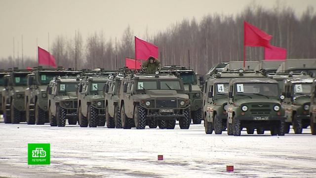 Под Петербургом состоялась первая репетиция парада Победы