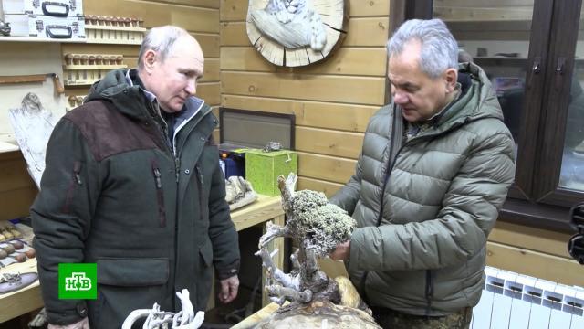 Путин иШойгу провели выходные втайге