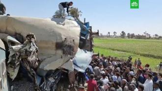 Катастрофа вЕгипте: 32человека погибли <nobr>из-за</nobr> сорванного впоезде <nobr>стоп-крана</nobr>