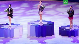 Российские фигуристки заняли весь пьедестал на чемпионате мира вСтокгольме