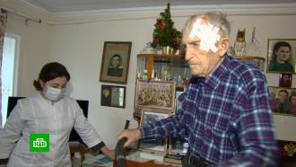 Старейший житель <nobr>Кабардино-Балкарии</nobr> ввозрасте 102лет привился от <nobr>COVID-19</nobr>