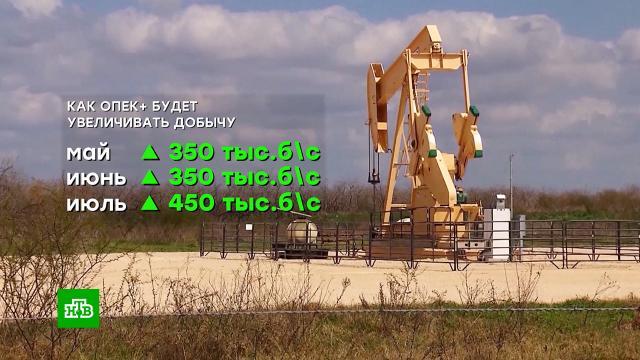 Страны ОПЕК+ договорились увеличить добычу нефти.ОПЕК, нефть.НТВ.Ru: новости, видео, программы телеканала НТВ