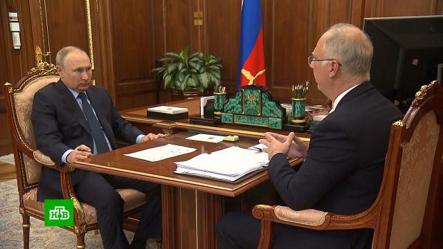 Глава РФПИ рассказал Путину ороботах-конвейерах для тестирования на коронавирус.Путин, вакцинация, коронавирус, прививки.НТВ.Ru: новости, видео, программы телеканала НТВ