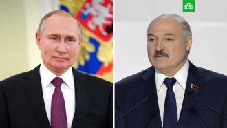 Путин иЛукашенко обсудили сотрудничество вборьбе с<nobr>COVID-19</nobr>