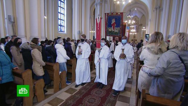 Московские католики отмечают Пасху вцерквях исоборах