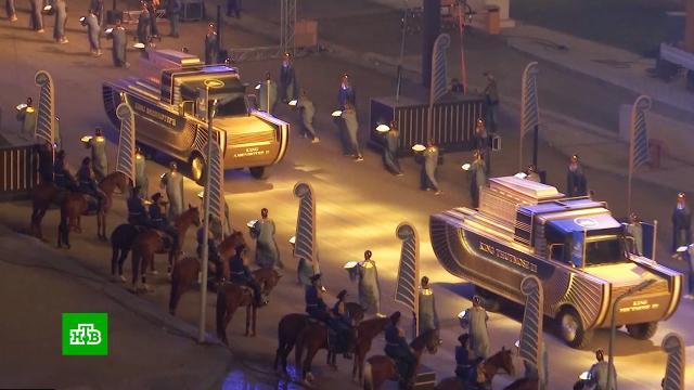 Древнеегипетские мумии торжественно перевезли вновый музей Каира.Египет, археология, выставки и музеи, история.НТВ.Ru: новости, видео, программы телеканала НТВ