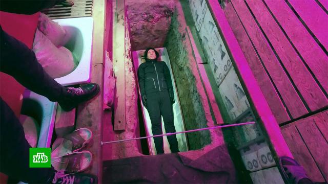 <nobr>Рекордсмен-экстремал</nobr> лег вгроб изаживо «похоронил» себя на 10суток