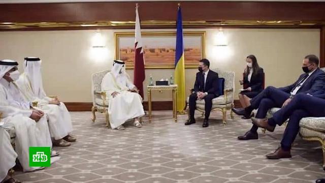 Делегация Зеленского грубо нарушила этикет в Катаре.Зеленский, Катар, дипломатия.НТВ.Ru: новости, видео, программы телеканала НТВ