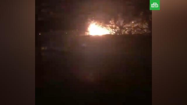 Вспыхнувший вДагестане танк сняли на видео.Дагестан, армия и флот РФ, пожары.НТВ.Ru: новости, видео, программы телеканала НТВ