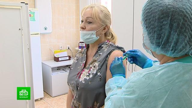 Петербуржцев начали прививать «ЭпиВакКороной».Санкт-Петербург, здравоохранение, коронавирус, медицина, прививки.НТВ.Ru: новости, видео, программы телеканала НТВ