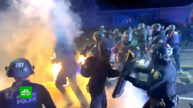 Погромы ибеспорядки вПортленде сняли на видео.США, митинги и протесты, полиция, расследование, убийства и покушения.НТВ.Ru: новости, видео, программы телеканала НТВ