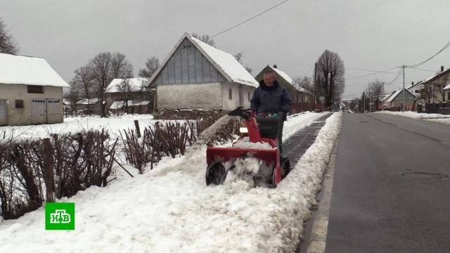 В Хорватии прошли мощные снегопады.Хорватия, погода, снег.НТВ.Ru: новости, видео, программы телеканала НТВ