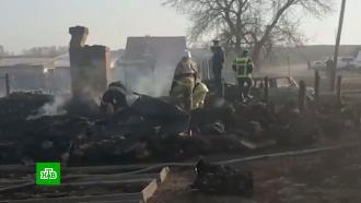 Следователи допрашивают мать погибших при пожаре пятерых детей