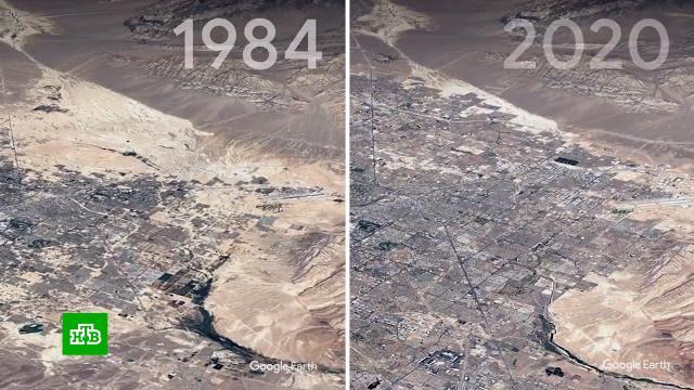Сервис Google показал изменения Земли за последние 37лет.Google, Земля, климат, технологии, экология.НТВ.Ru: новости, видео, программы телеканала НТВ