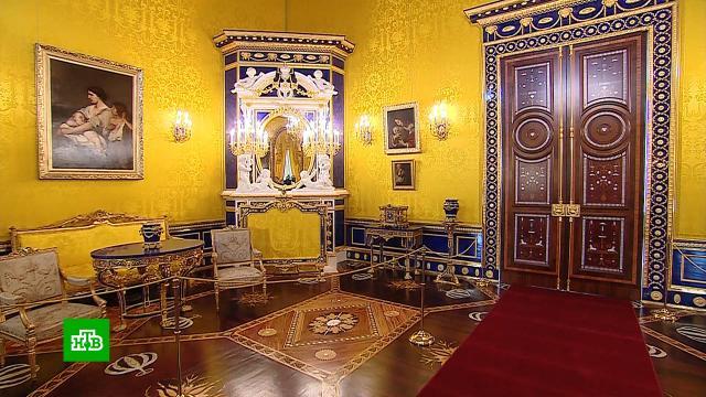 ВЕкатерининском дворце восстановили роскошный интерьер Лионского зала
