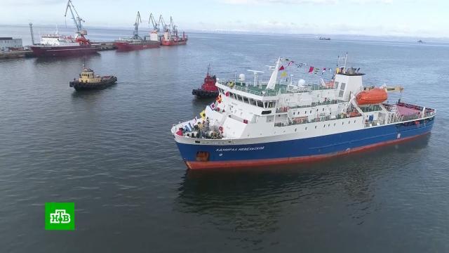 Сахалин и Южные Курилы связал новый паром «Адмирал Невельской»