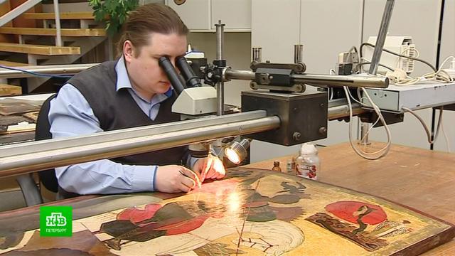 ВРусском музее восстанавливают уникальную икону из Согиницкого храма