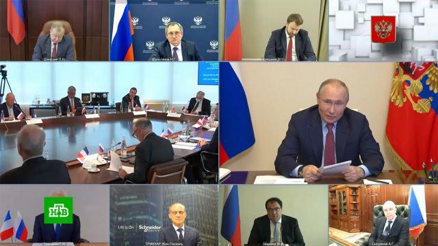 Путин на примере сказки Салтыкова-Щедрина объяснил необходимость «Северного потока — 2».Путин, Франция, инвестиции, экономика и бизнес.НТВ.Ru: новости, видео, программы телеканала НТВ